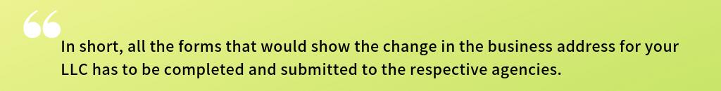 Change LLC Address
